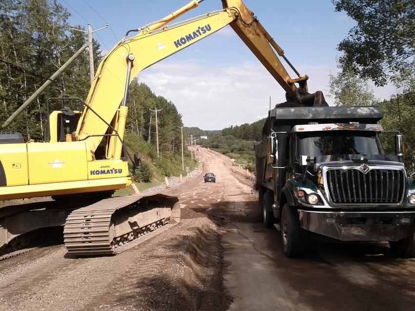 Réfection et rehaussement de la  route 381 Inter-Projet | Entrepreneur en Construction | Bâtiment et Génie civil